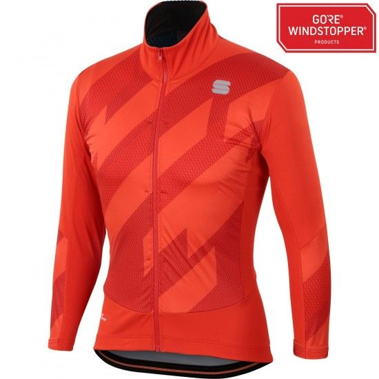 Sportful Attitude Winter Cycling Jacket Fire Red