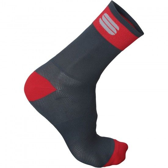 Sportful Bodyfit Pro 12 Cycling Socks Dark Grey/Red