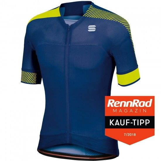 Sportful Bodyfit Pro Evo Short Sleeve Cycling Jersey Blue