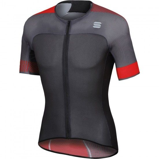 Sportful Bodyfit Pro Light Short Sleeve Cycling Jersey Black/Red