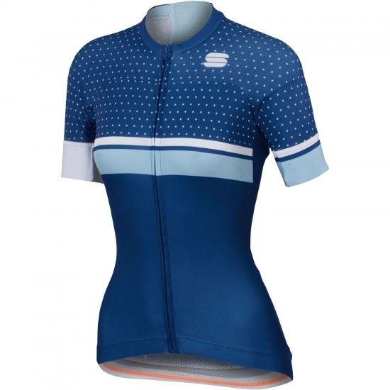 Sportful Diva W Womens Short Sleeve Cycling Jersey Blue