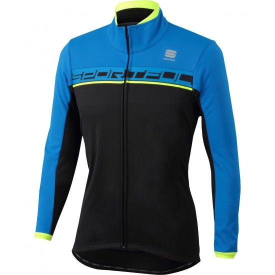 Sportful Giro Softshell Winter Cycling Jacket Black/Blue