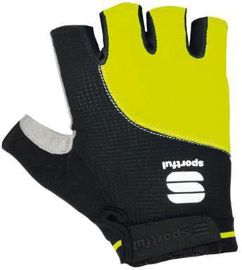 Sportful Giro Short Finger Gloves Black/Fluo Yellow