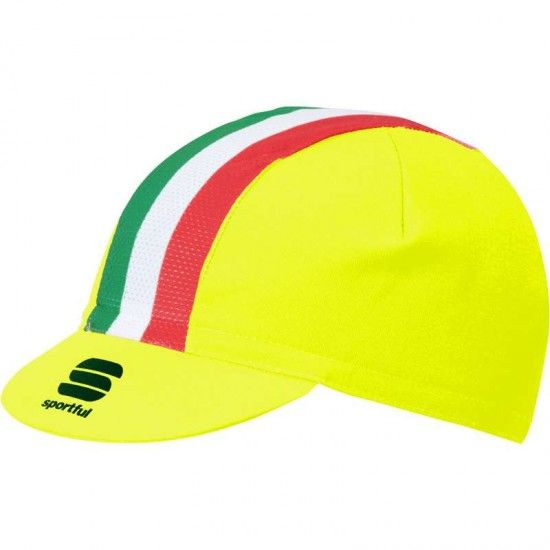 Sportful Italia Cycling Cap Neon Yellow