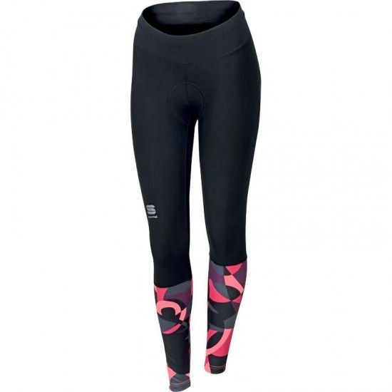 Sportful Primavera Tight Womens Cycling Trousers Black/Pink Coral