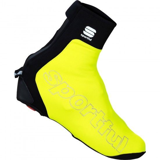 Sportful Roubaix Thermal Winter Overshoes Yellow Fluo
