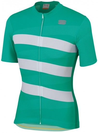 Sportful Team 2.0 Ribbon Short Sleeve Cycling Jersey Green/White