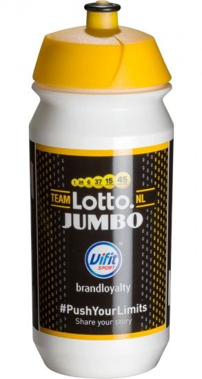 Tacx Team Lotto Nl - Jumbo 2018 Water Bottle 500 Ml - Professional Cycling Team