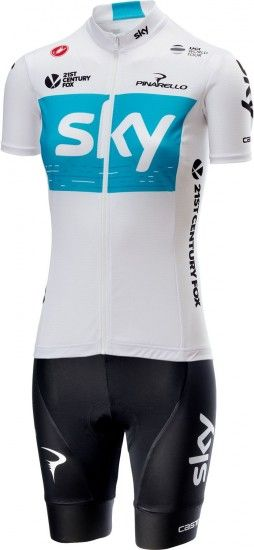 Castelli Team Sky 2018 Fan Womens Short Sleeve Cycling Jersey (Long Zip) - Professional Cycling Team
