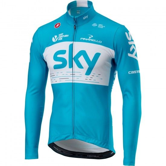 Castelli Team Sky 2018 Training Edition Long Sleeve Cycling Jersey - Professional Cycling Team