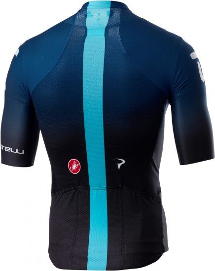 Castelli Team Sky 2019 Aero Race 6.0 Short Sleeve Cycling Jersey (Long Zip) - Professional Cycling Team