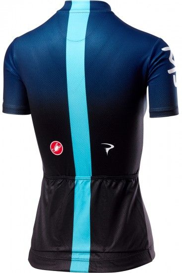 Castelli Team Sky 2019 Fan Womens Short Sleeve Cycling Jersey (Long Zip) - Professional Cycling Team