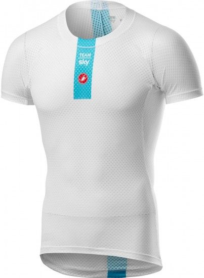 Castelli Team Sky 2019 Pro Mesh Short Sleeve Base Layer - Professional Cycling Team