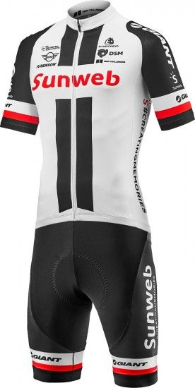 Giant Team Sunweb Replica 2018 Set (Jersey + Strap Trousers) - Professional Cycling Team