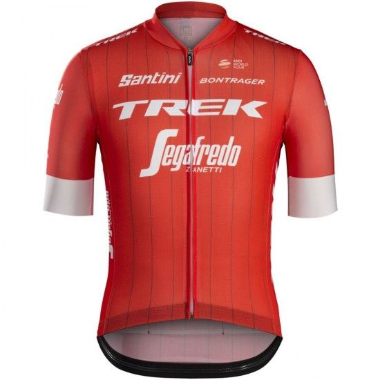 Santini Trek - Segafredo 2018 (Rsl) Short Sleeve Cycling Jersey (Long Zip) - Professional Cycling Team