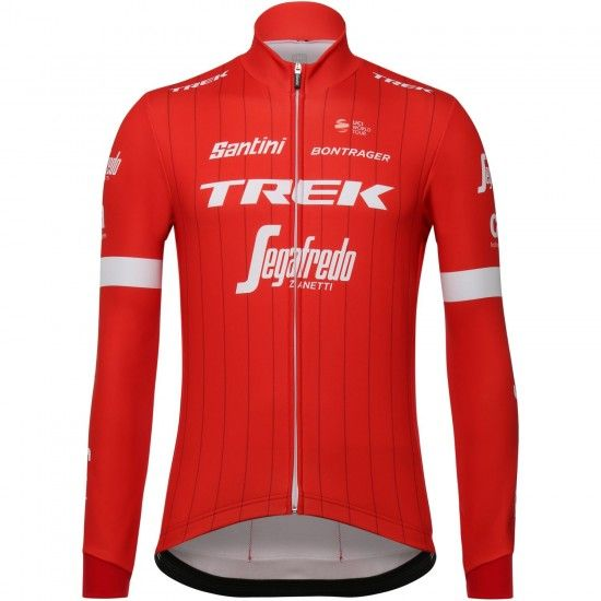 Santini Trek - Segafredo 2018 Long Sleeve Cycling Jersey - Professional Cycling Team