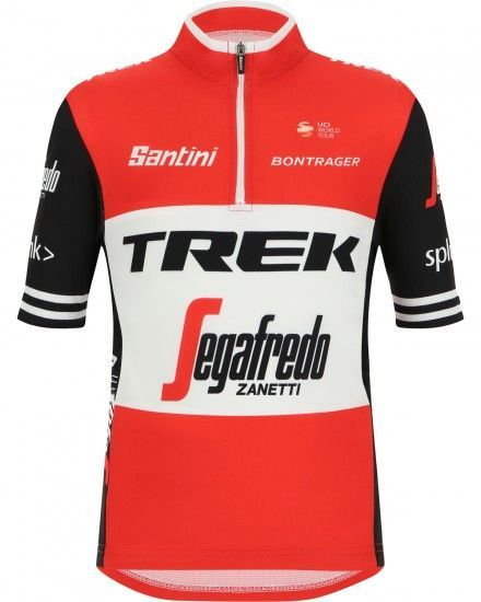 Santini Trek - Segafredo 2019 Kids Short Sleeve Jersey - Professional Cycling Team