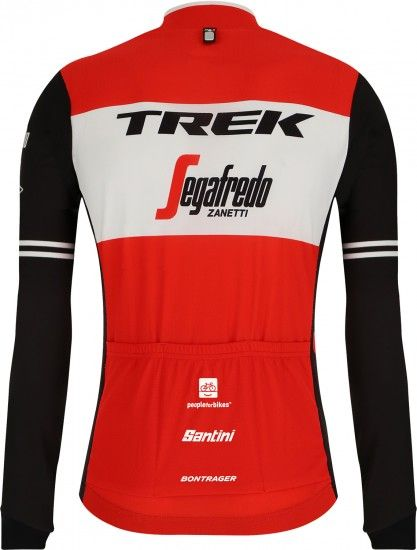 Santini Trek - Segafredo 2019 Long Sleeve Cycling Jersey - Professional Cycling Team