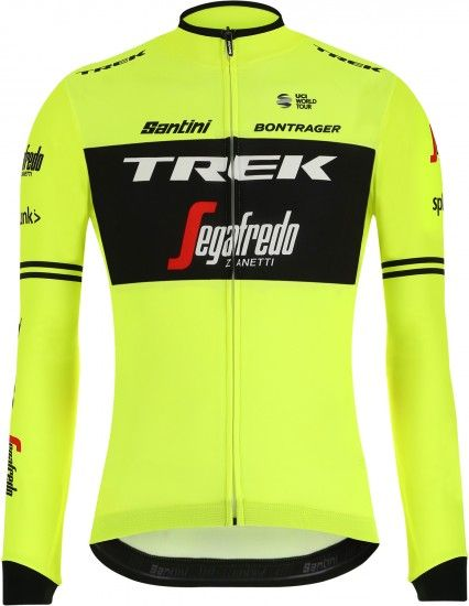 Santini Trek - Segafredo 2019 Training Edition Long Sleeve Cycling Jersey - Professional Cycling Team