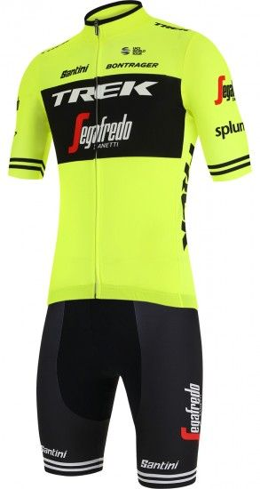Santini Trek - Segafredo 2019 Training Edition Set (Jersey + Strap Trousers) - Professional Cycling Team