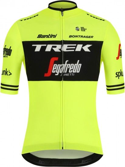Santini Trek - Segafredo 2019 Training Edition Short Sleeve Cycling Jersey (Long Zip) - Professional Cycling Team
