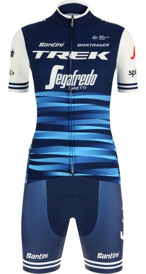 Santini Trek - Segafredo Women Team 2019 Womens Set (Jersey + Cycling Shorts) - Professional Cycling Team