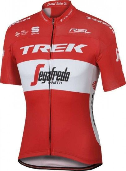 Sportful Trek - Segafredo Austrian Champ 16/17 Short Sleeve Jersey (Long Zip) - Professional Cycling Team