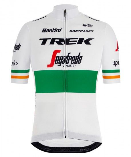 Santini Trek - Segafredo Irish Champion 2019 Short Sleeve Cycling Jersey (Long Zip) - Professional Cycling Team