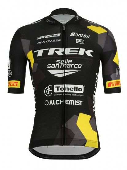 Santini Trek-Selle San Marco 2019 Short Sleeve Cycling Jersey - Professional Cycling Team