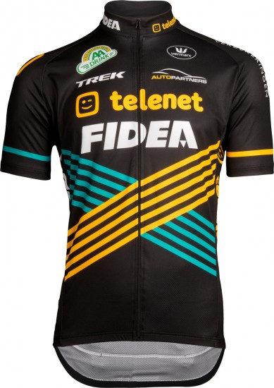Vermarc Telenet - Fidea - Lions 2019 Short Sleeve Cycling Jersey (Long Zip) - Professional Cycling Team