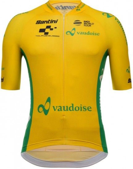 Santini Tour De Suisse 2018 Maglia Gialla (Yellow) Short Sleeve Cycling Jersey