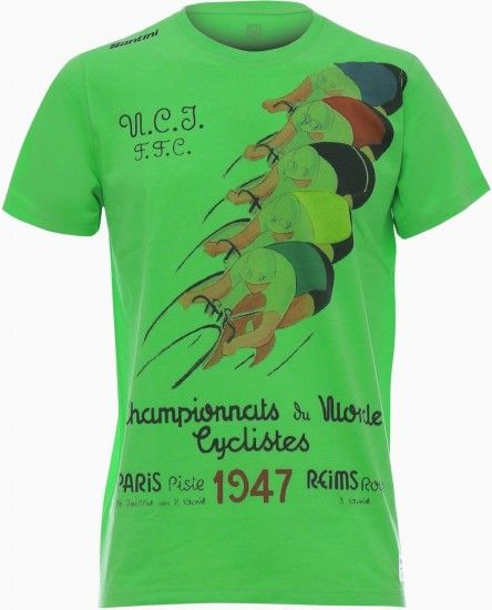 Santini Uci World Champion-Fashion 2018 T-Shirt Green