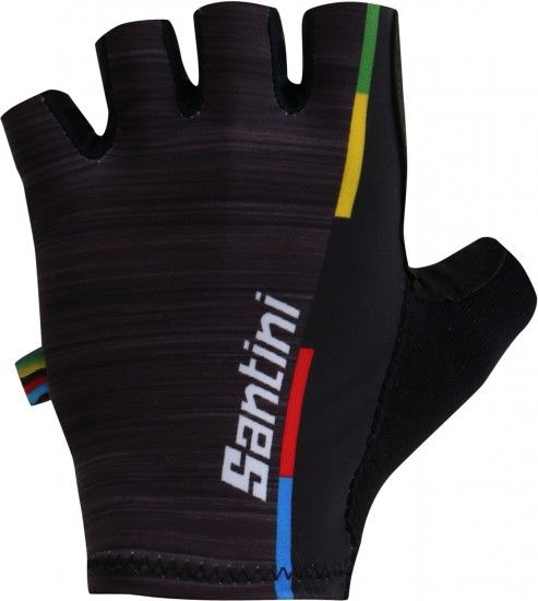 Santini Uci World Champion-Fashion 2018 Short Finger Cycling Gloves
