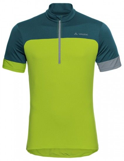 Vaude Men Mossano Tricot Iv Short Sleeve Cycling Jersey Green/Black (Chute Green)