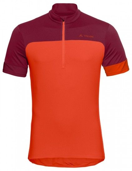 Vaude Men Mossano Tricot Iv Short Sleeve Cycling Jersey Red (Paprika)