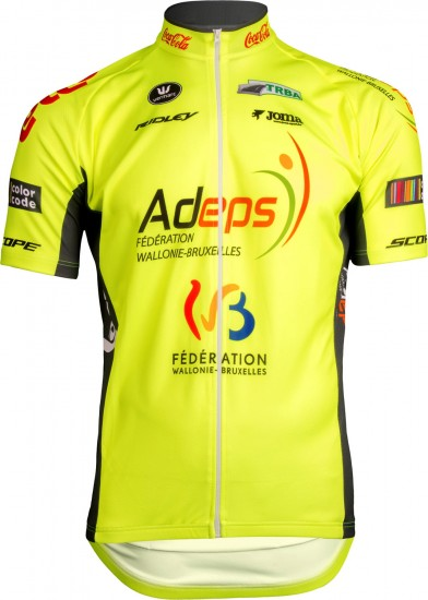 Vermarc Wallonie - Bruxelles 2019 Short Sleeve Cycling Jersey (Long Zip) - Professional Cycling Team
