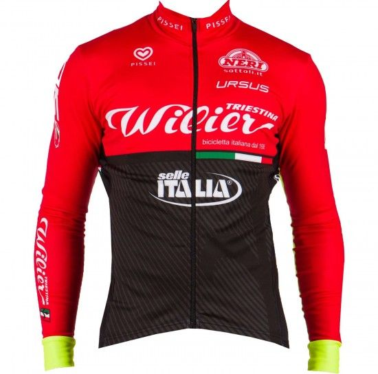 Pissei Wilier Triestina - Selle Italia 2017 Winter Cycling Jacket - Professional Cycling Team