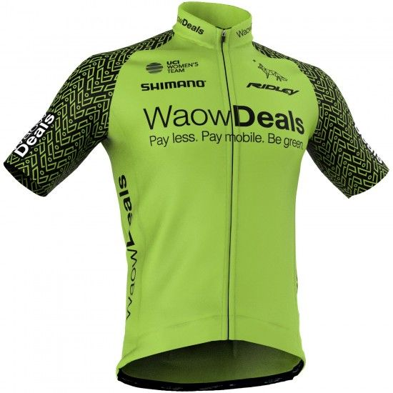 Giessegi Waowdeals Pro Cycling 2018 Short Sleeve Cycling Jersey - Professional Cycling Team