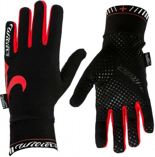 Wilier Extra Glove Long Finger Black/Red (Wl164)