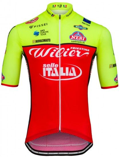 Pissei Wilier Triestina - Selle Italia 2018 Short Sleeve Jersey (Long Zip) - Professional Cycling Team