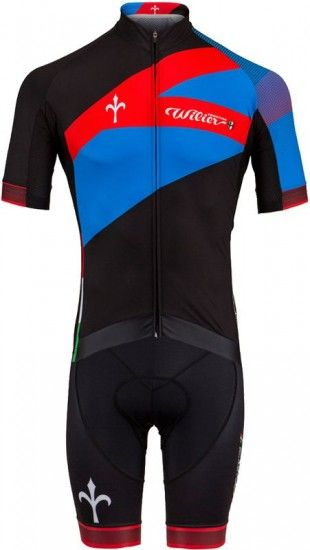 Wilier Cycling Set Spark (Jersey + Bib Shorts) Black/Blue